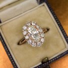 3ct GIA CERTIFIED 1.75 ctr OVAL HALO DIAMOND ENGAGEMENT COCKTAIL RING ROSE GOLD