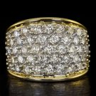 2 CARAT ROUND DIAMOND CLUSTER COCKTAIL RING 14K GOLD 7 GRAMS BIG STATEMENT 2ct
