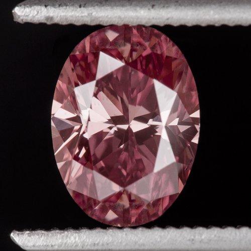 1ct RARE FANCY INTENSE PINK DIAMOND PURPLE VIVID SI1 OVAL ENGAGEMENT 1 CARAT 7X5