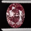 1ct RARE FANCY INTENSE PINK DIAMOND PURPLE VIVID SI1 OVAL ENGAGEMENT 1 CARAT 7X5