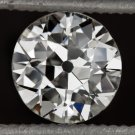 VINTAGE H VS1 OLD EUROPEAN CUT DIAMOND EGL-USA CERTIFIED 5.7mm 0.64ct ROUND OEC