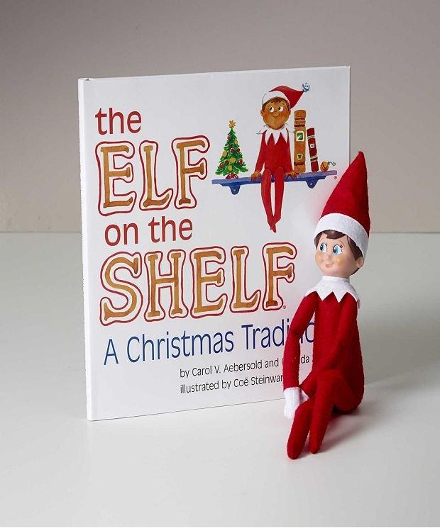 Elf on a shelf (red boy scout elf)