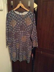 Zara Oversize Printed Crepe  Dress BNWT L