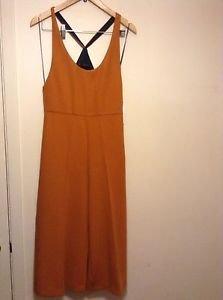 Zara Bloggers Fav Cropped Jumpsuit M Burnt Orange BNWT