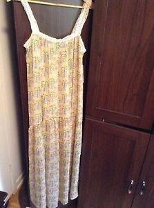 Zara Long Strappy Printed  Dress BNWT S