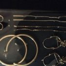 Zara woman pack of long hoop and chain earrings BNWT gold