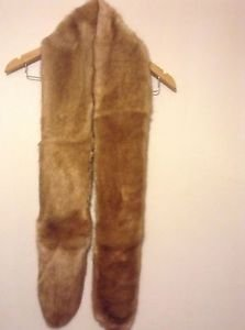 Zara faux fur scarf BNWT caramel bloggers favourite