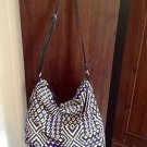 ZARA BEADED ETHNIC PRINT HANDBAG BNWT BLUEWHITE
