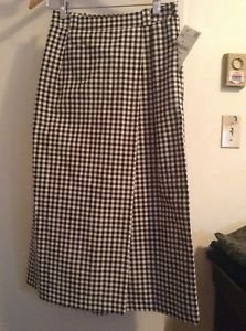 Zara rare Checked Cropped Skort Trousers  BNWT Xs black/ecru