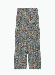 Zara rare Paisley Printed High Waisted Cropped Trousers  BNWT M