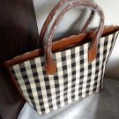 Original Zara brown ivory check print  Tote bag BNWT  2015 SS