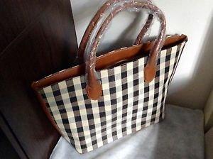Original Zara brown ivory check print  Tote bag BNWT  2015 SS