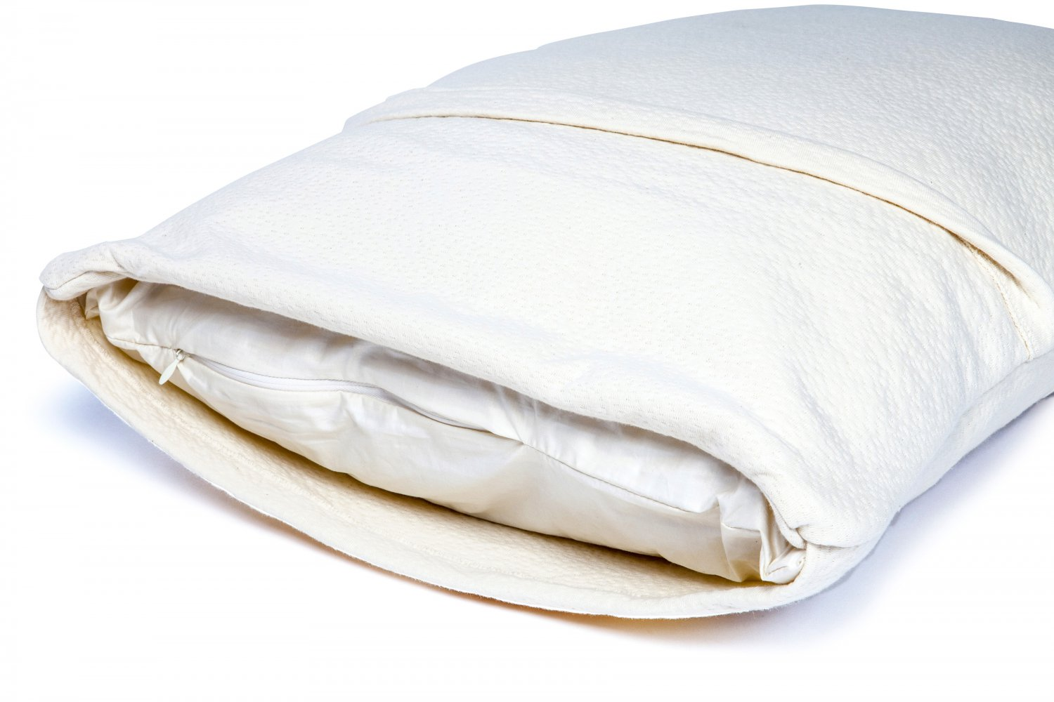 "Organic Rubber Pillow, All Natural & 100% Certified, Hypoallergenic King Size 20""x36"""