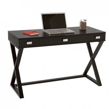 "See Jane Work Kate Writing Desk, 30""H x 47 1/2""W x 20""D, Black"