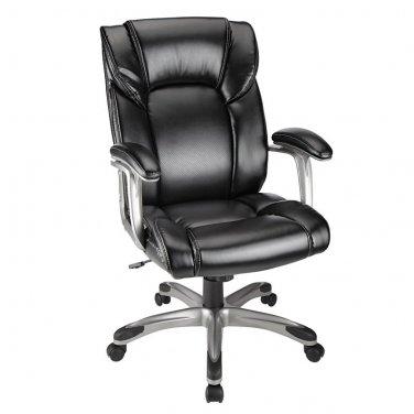 Realspace Salsbury High-Back Chair, Black