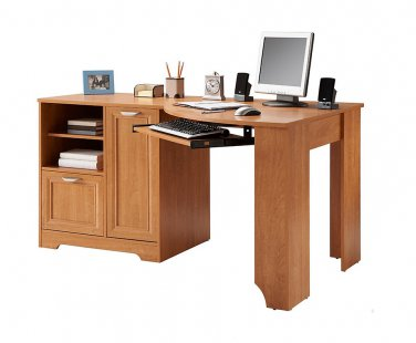 "Realspace Magellan Collection Corner Desk, 30""H x 59 1/2""W x 39""D, Honey Maple"
