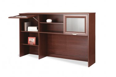 "Realspace Magellan Collection Hutch, 33 5/8""H x 58 1/8""W x 11 5/8""D, Classic Cherry"