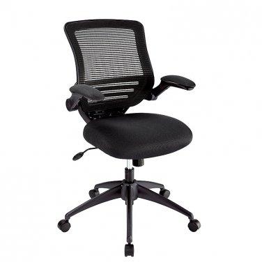 Realspace Calusa Mesh Mid-Back Chair, Black