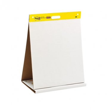 "Post-it Tabletop Bleed Resistant Easel Pad, 20"" x 23"", White, Unruled, 20 Sheets"