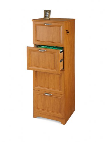 """Realspace Magellan Collection 4-Drawer Vertical File Cabinet, 54""""H x 18 3/4""""W x 19""""D, Honey Maple"""