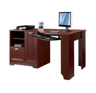 "Realspace Magellan Collection Corner Desk, 30""H x 59 1/2""W x 39""D, Classic Cherry"