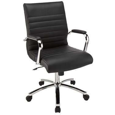 Realspace Winsley Mid-Back Chair, Black