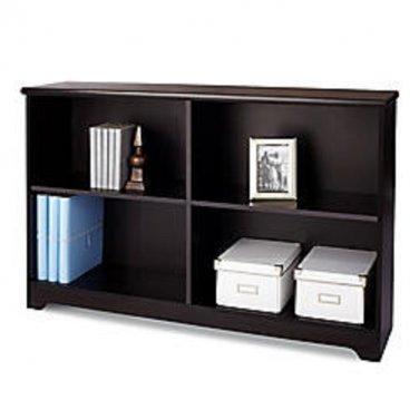 """Realspace Magellan Collection 2-Shelf Sofa Bookcase, 29""""H x 47 1/4""""W x 11 3/5""""D, Espresso"""