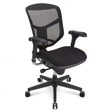 WorkPro Quantum 9000 Series Ergonomic Mid-Back Mesh/Fabric Chair, Black