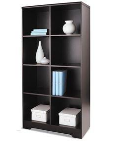 """Realspace Magellan 8-Cube Bookcase, 63 3/8""""H x 30 1/8""""W x 15 5/8""""D, Espresso"""