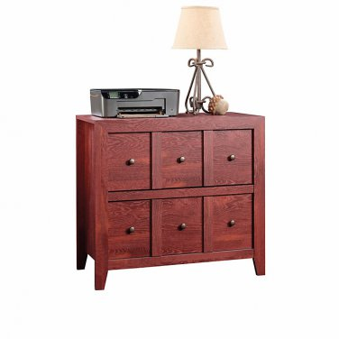"Sauder Anywhere Solutions Filing Cabinet, 2 Drawers, 33 1/2""H x 36 3/10""W x 19 1/2""D, Fiery Pine"