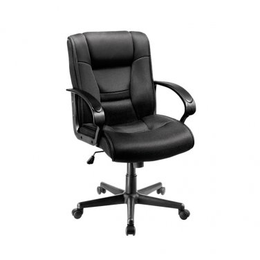 Brenton Studio Ruzzi Mid-Back Mesh Chair, Black