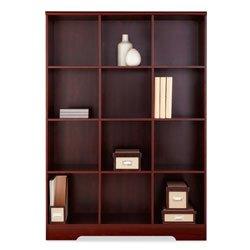 Realspace Magellan 12-Cube Bookcase, Classic Cherry