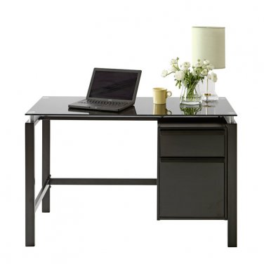 Realspace Lake Point Writing Desk, Black