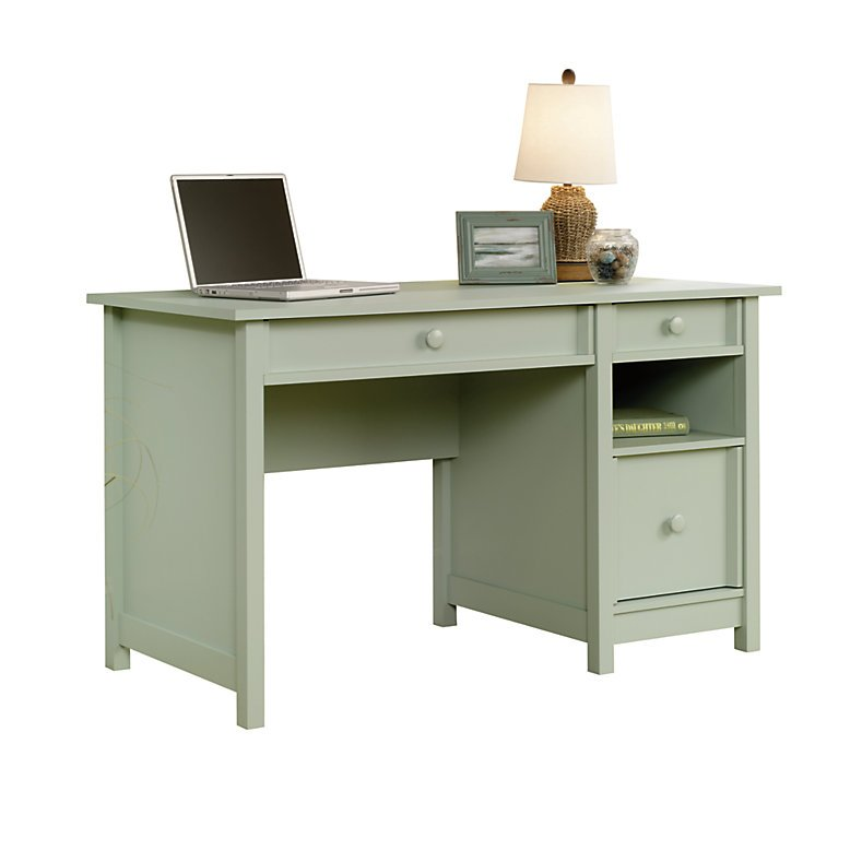 Sauder Cottage Desk, Rainwater Soft Green