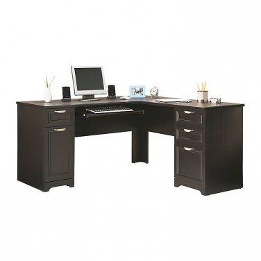 Realspace Magellan Collection L-Shaped Desk, Espresso