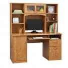 Realspace Landon Desk With Hutch, Oak