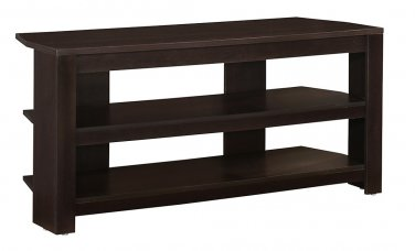 "Monarch Specialties Engineered Wood TV Stand, For Flat-Panel TVs Up To 40"", Cappuccino"