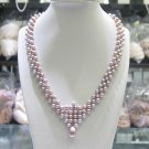 elegant freshwater cultured pearl necklace for wedding jewelry,00323XC