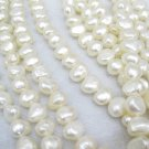 7-8mm natural  freshwater  nugget pearl on temporary strand,01008XLB
