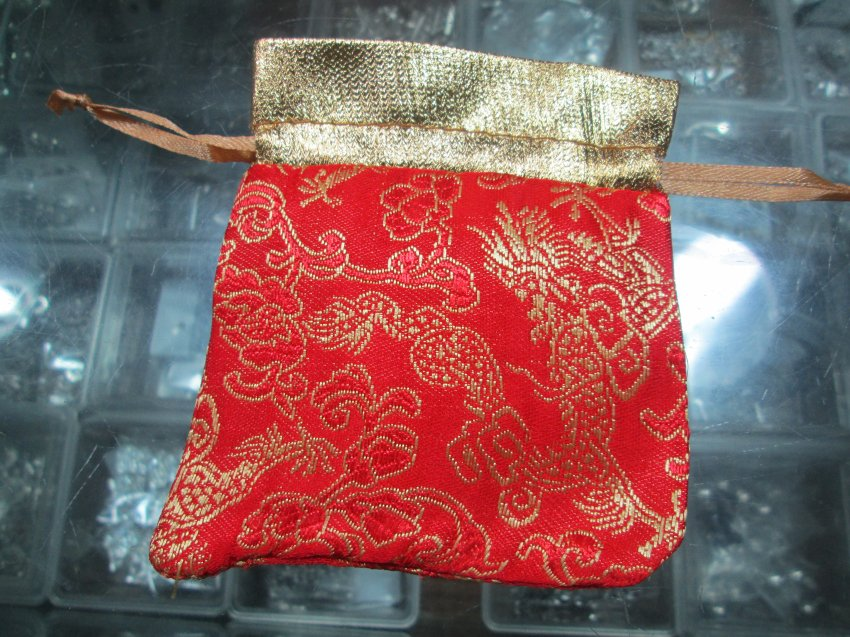 10 pcs Fancy Satin Pouch for jewelry�assorted color,01017BS
