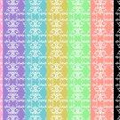 14 Digital Scrapbook Paper Arabesque Pattern Candy Colors