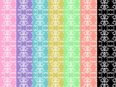 14 Digital Scrapbook Paper Arabesque Pattern Candy Colors