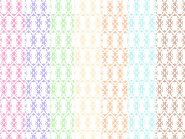 14 Digital Scrapbook Paper Arabesque Pattern Pastel Colors