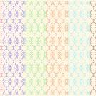 12 Digital Scrapbook Paper Arabesque Pattern Pastel Colors