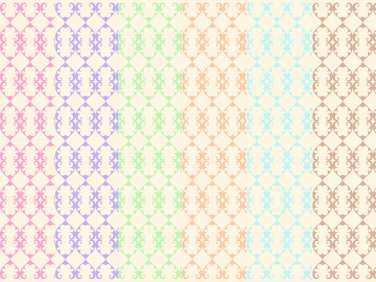 12 Digital Scrapbook Paper Arabesque Pattern Pastel Colors