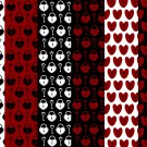 12 Digital Scrapbook Paper Heart Padlock Key Love Pattern