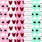 14 Digital Scrapbook Paper Heart Umbrella Rain Love Pattern