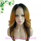 free shipping synthetic black orange lace front wig for women