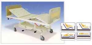 Hospital Beds : 4-Section/Double Fowler Positions