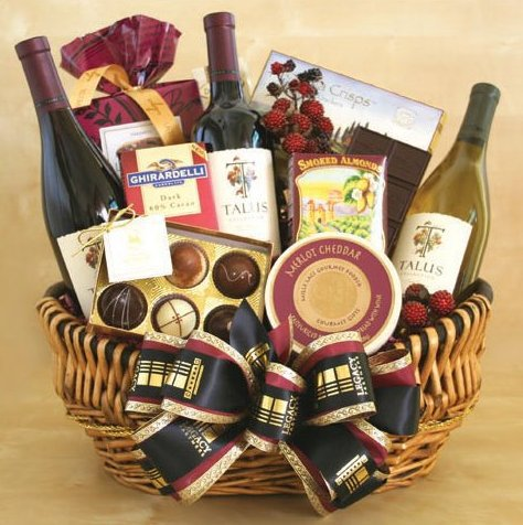 Wine Delux+Gourmet Basket